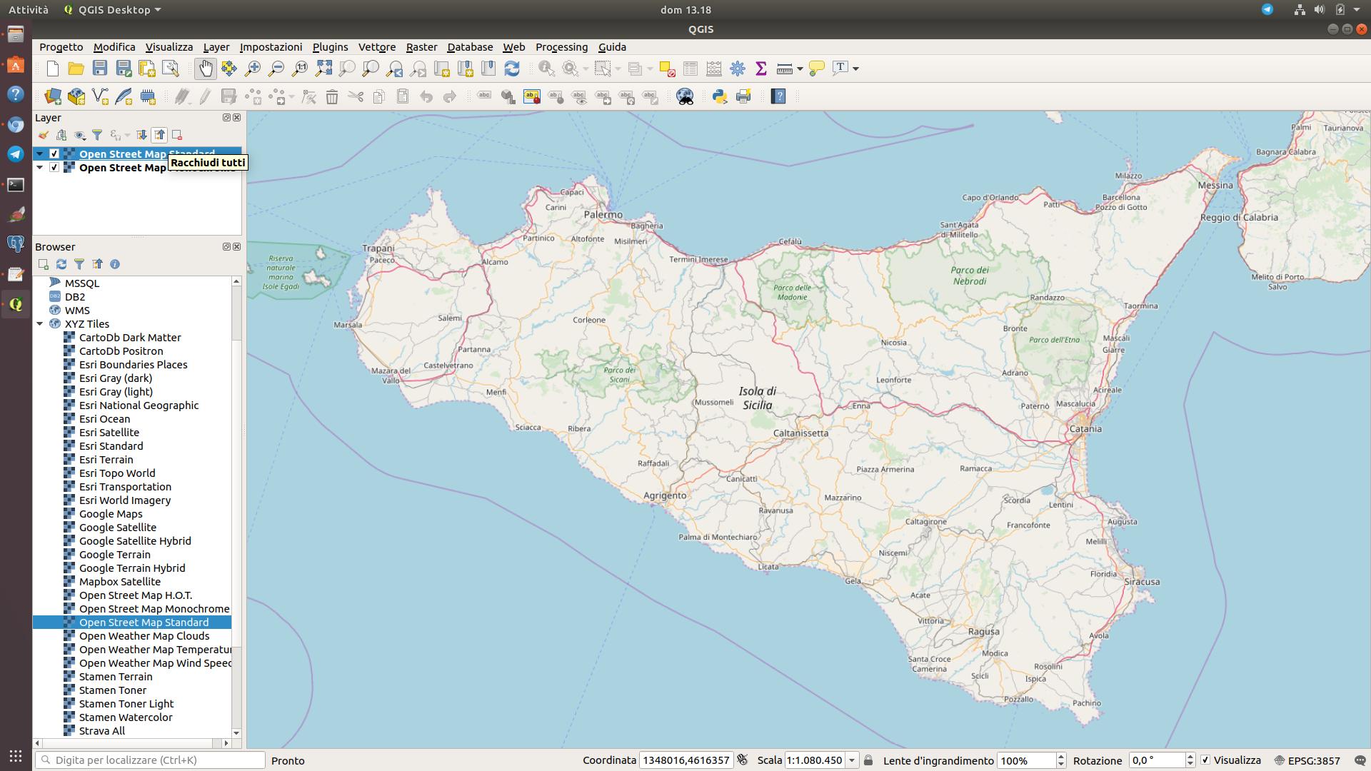 QGIS 3 0 e le mappe di sfondo | pigrecoinfinito