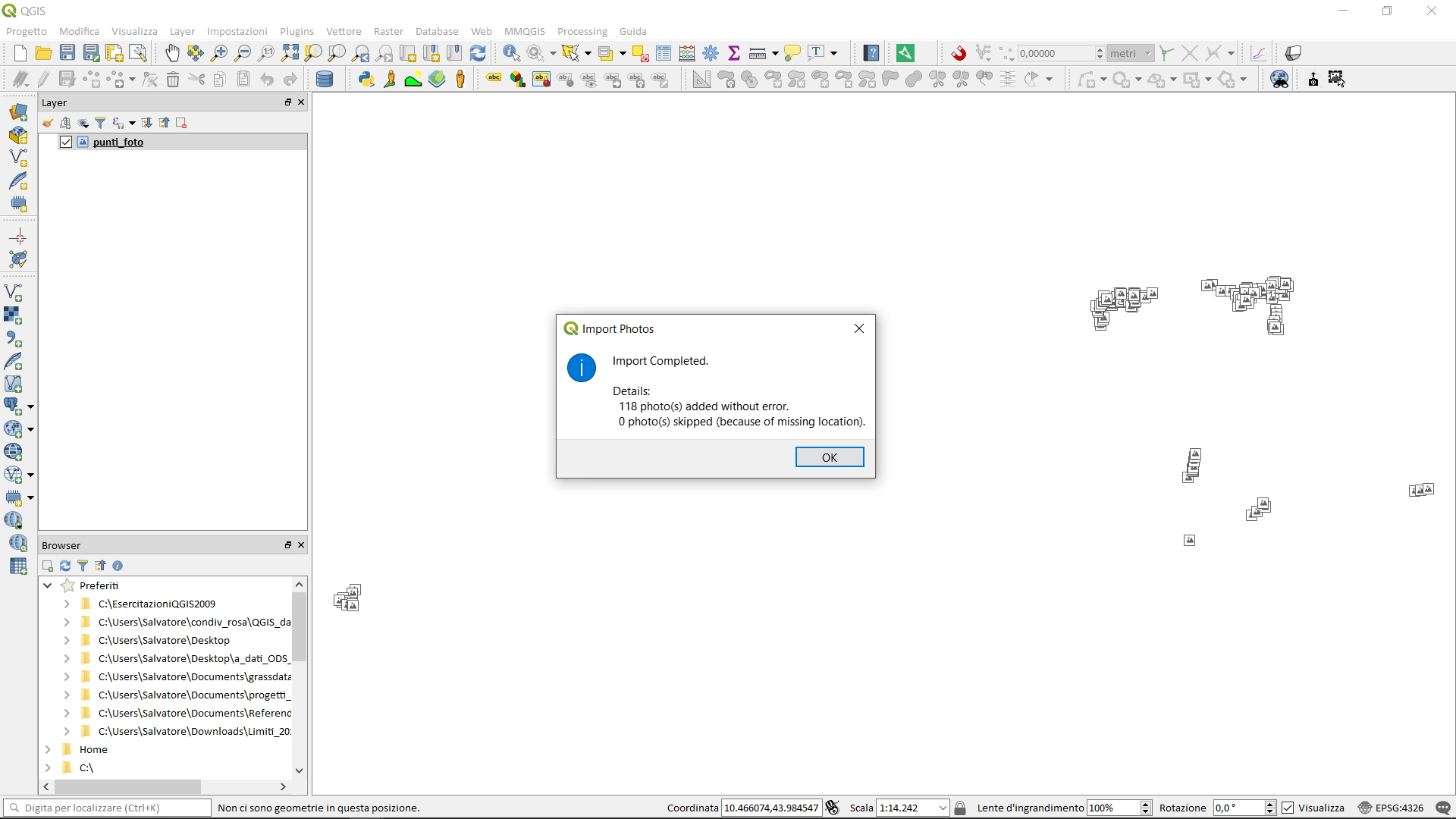 QGIS 3 0 plugin ImportPhotos | pigrecoinfinito
