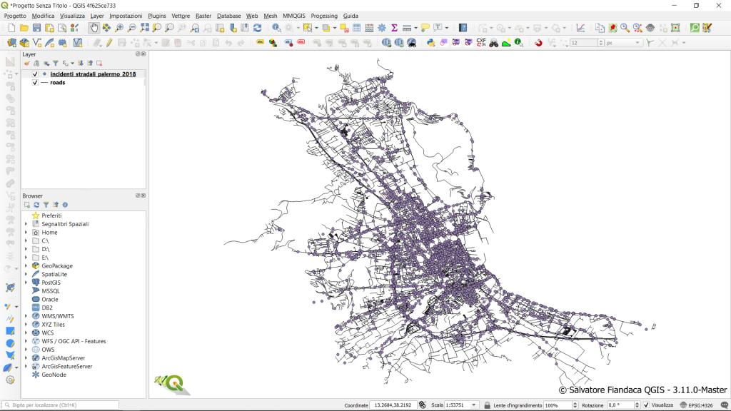 Screenshot QGIS